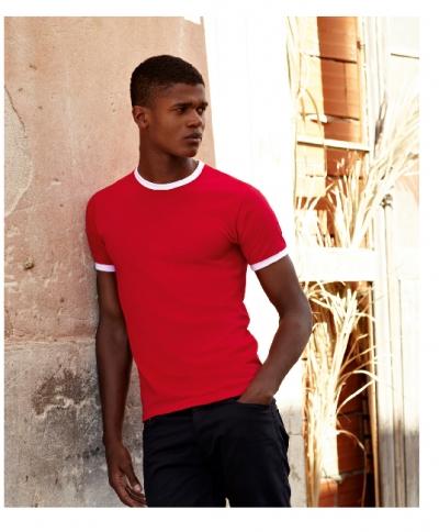 maglietta manica cortat-shirt manica corta bicolore economica personalizzata